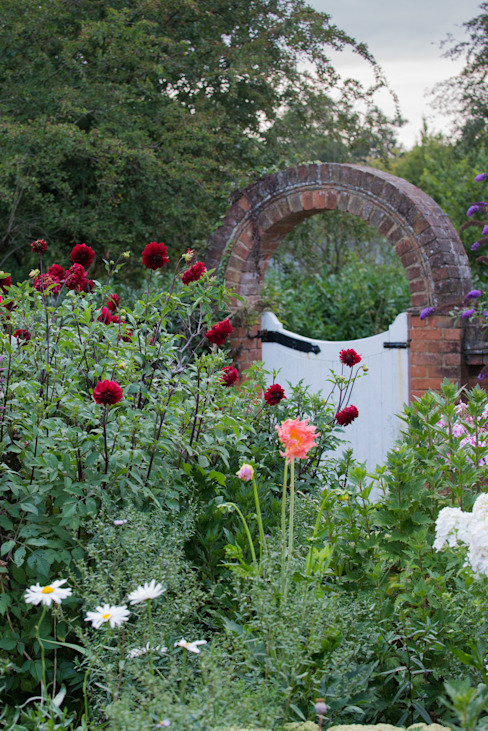Brick arch with roses Taman Gaya Country Oleh Daniel Shea Garden Design Country