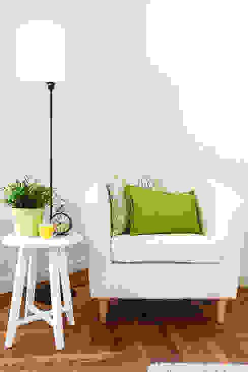Dettaglio soggiorno MINIMAL | Laboratorio d'Interni Soggiorno moderno Verde