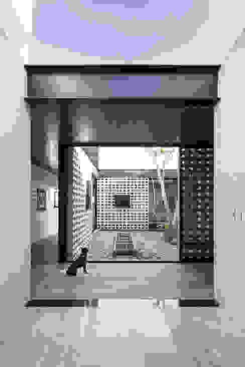 Un Patio: Pasillos y recibidores de estilo  por P11 ARQUITECTOS