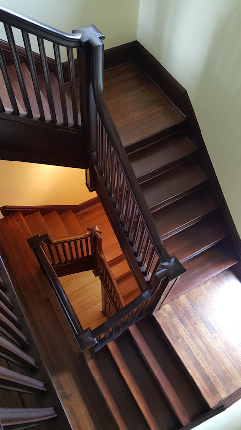Pine Stairwell Restoration Shine Star Flooring Stairs