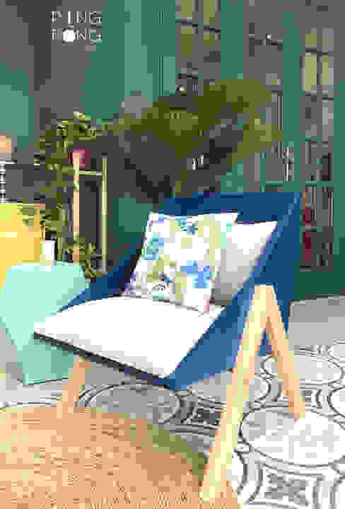 Tria armchair: hiện đại  by PingPong Atelier Furniture, Hiện đại