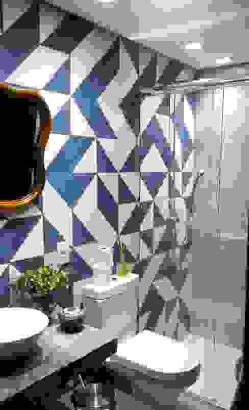 Banheiro Social Banheiros modernos por Arquitetura Hentoux Moderno Concreto