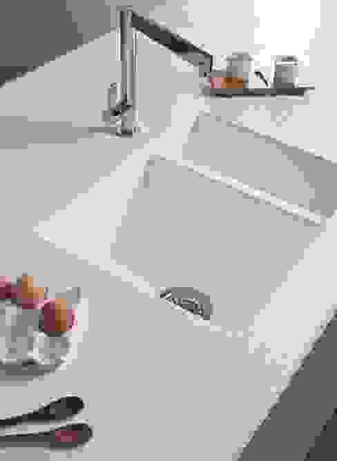 Beyaz Corian Eviye ve Corian Tezgah KREA Granit- Mutfak Banyo Tezgahları KitchenBench tops White