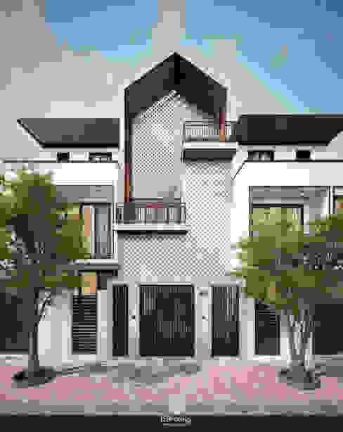 Cảm xúc Á Đông - Nhà phố Sài Gòn Nhà phong cách châu Á bởi LEAF Design Châu Á