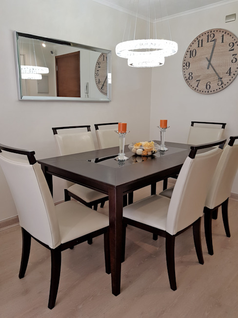 Modern Dining Room by Oscar Saavedra Diseño y Decoración Spa Modern Engineered Wood Transparent