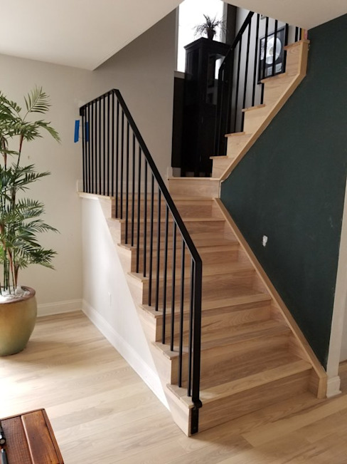 Pre-finished Ash Flooring Shine Star Flooring Stairs