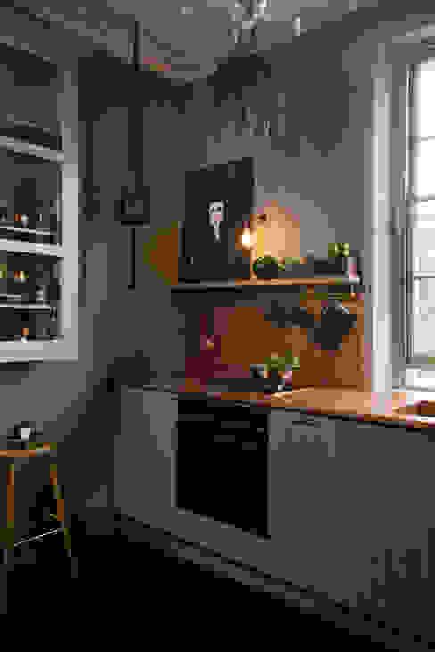 deVOL Kitchens Cuisine moderne Bois massif Bleu