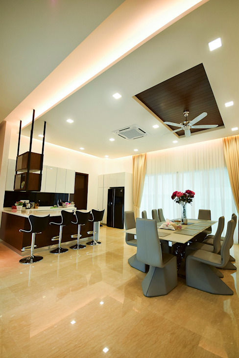 Dining room by Hatch Interior Studio Sdn Bhd,