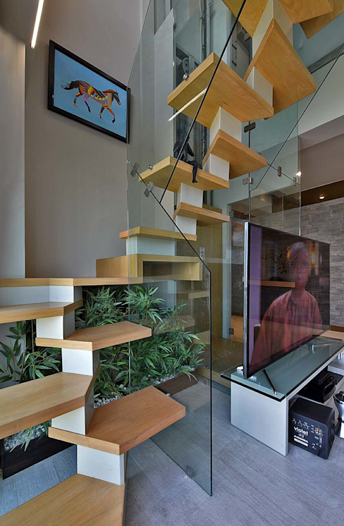 staircase 根據 homify 簡約風