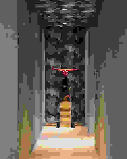Sultry Chic Design Intervention Modern corridor, hallway & stairs Purple/Violet