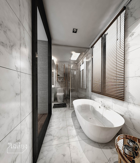 Home Renovate - Baan Klangmuang Pinklao-Charan คุณเฉลียง - ออกแบบตกแต่งภายใน ห้องน้ำ