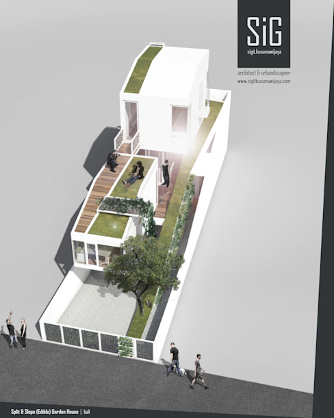 Split & Slope (Edible) Garden House sigit.kusumawijaya | architect & urbandesigner Single family home