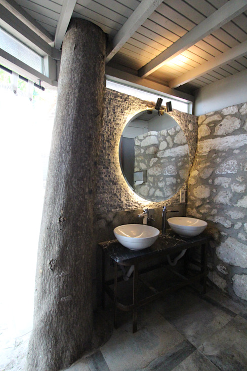 Open Air Bar Tropical style bathrooms by Orkun İndere Interiors Tropical