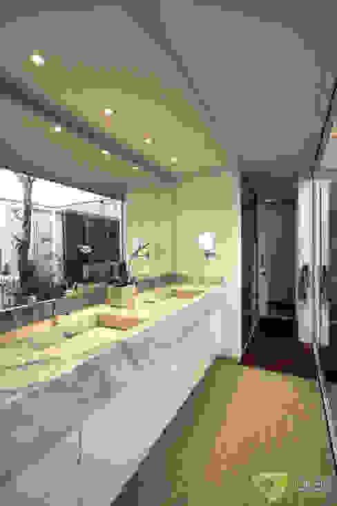 Casa Americana Olaa Arquitetos Banheiros escandinavos