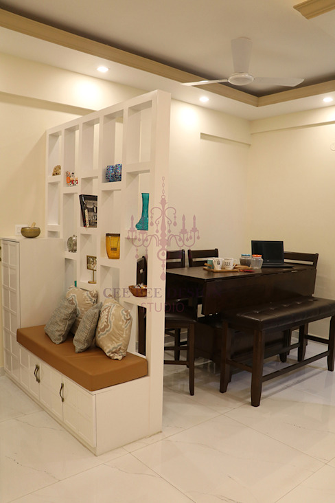 2 BHK Apartment of Mr Santosh Nambiath Bangalore Country style dining room by Cee Bee Design Studio Country