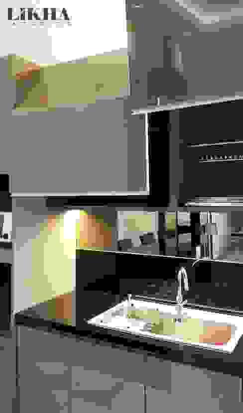Kitchen Set (Details) Likha Interior Dapur built in Kayu Lapis Brown