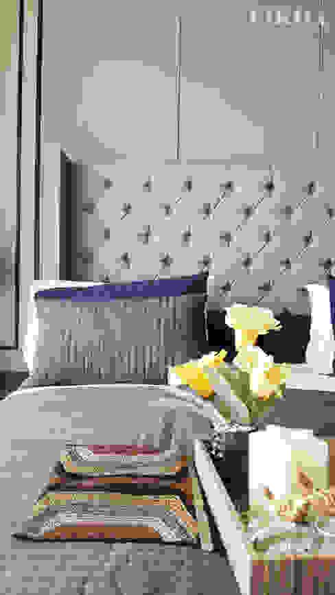 Ruang Tidur Utama (Detail) Likha Interior BedroomBeds & headboards Blue
