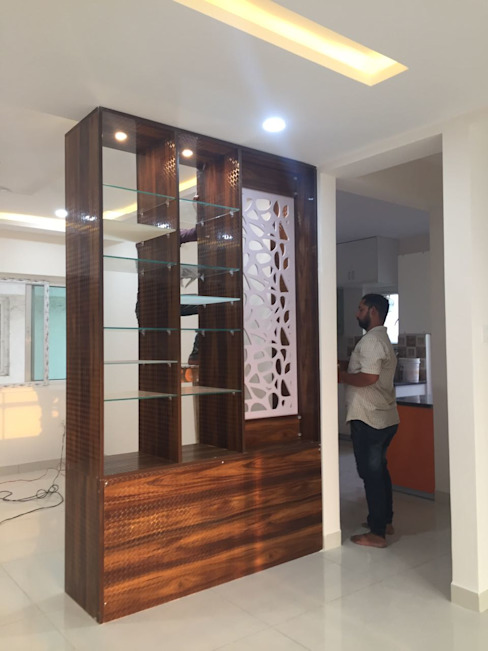 Project 3 Modern corridor, hallway & stairs by Meticular Interiors LLP Modern