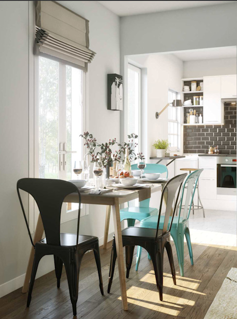 Dining room by Isabel Gomez Interiors, Industrial