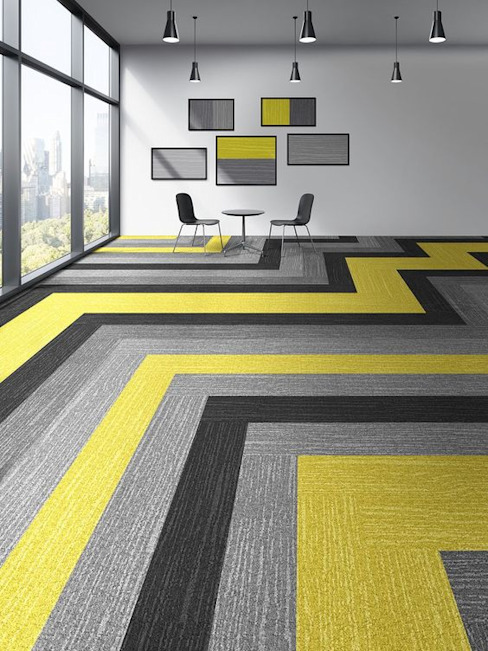 melis zemin kaplamalari – BALSAN JUNGLE KARO HALI: modern tarz , Modern Tekstil Altın Sarısı