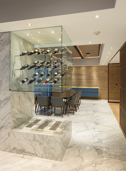 Departamento SS Concepto Taller de Arquitectura Modern Home Wine Cellar