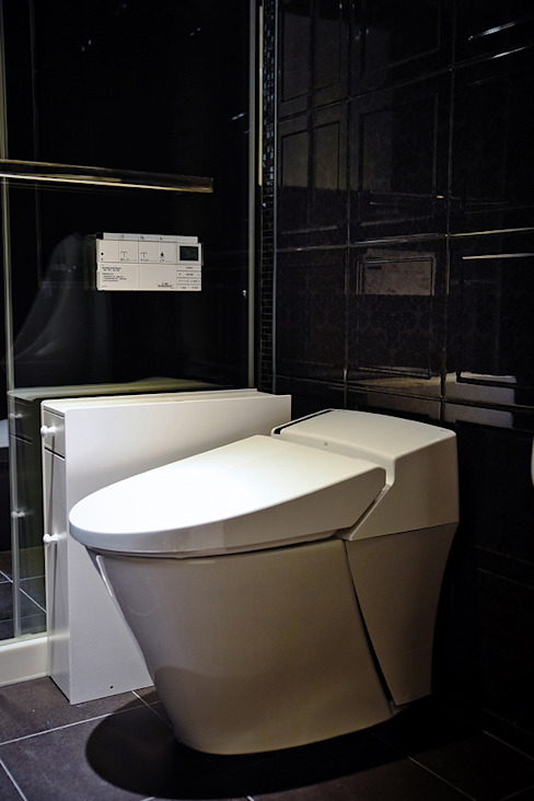 住空間-信義路 現代浴室設計點子、靈感&圖片 根據 青易國際設計 現代風