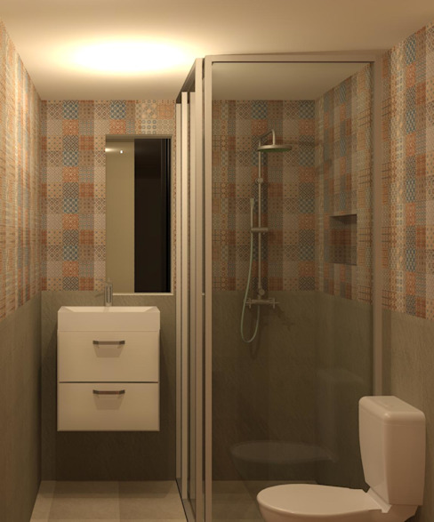 Baño Baños de estilo moderno de Perfil Arquitectónico Moderno