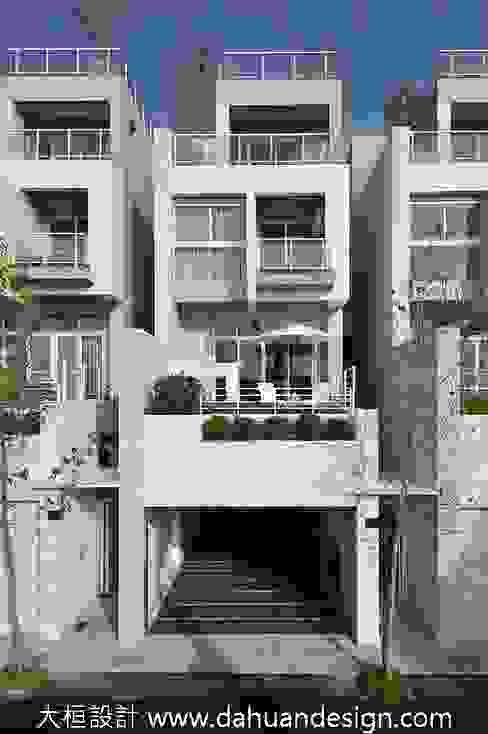 大桓設計顧問有限公司 Casas modernas Mármol Blanco