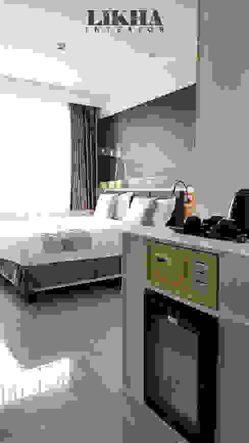 Kamar Hotel dan Pantry Hotel Modern Oleh Likha Interior Modern Kayu Lapis