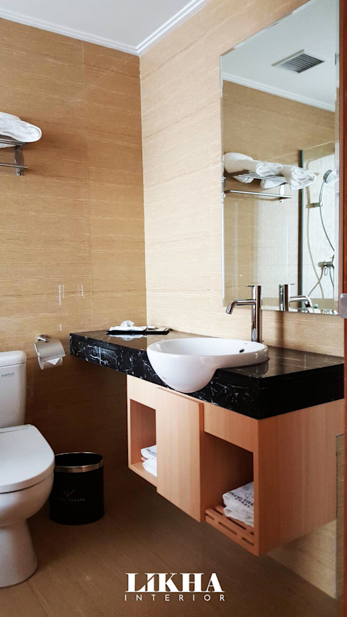 Kabinet Wastafel Hotel Modern Oleh Likha Interior Modern Kayu Lapis