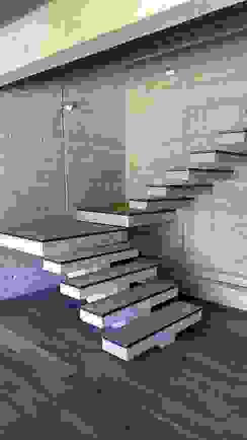 Projekty,  Schody zaprojektowane przez homify, Nowoczesny Wzmocniony beton