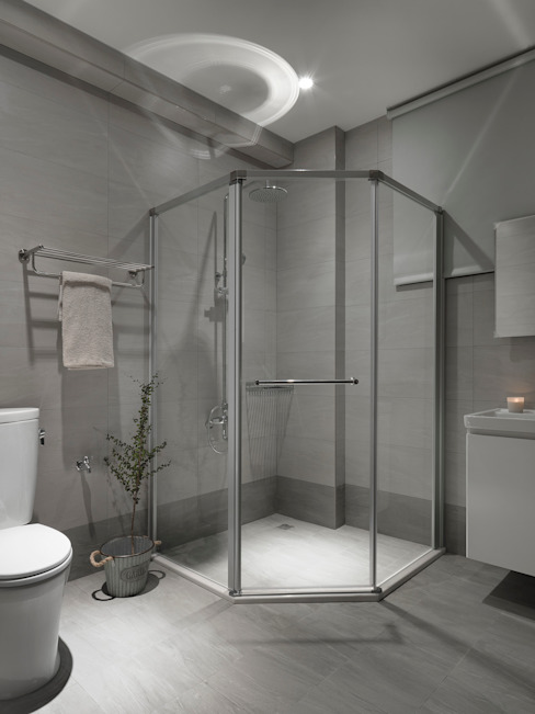 Phòng tắm phong cách hiện đại bởi 夏沐森山設計整合 Hiện đại