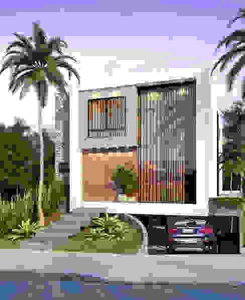 Vista Externa Casas modernas por Paulo Stocco Arquiteto Moderno