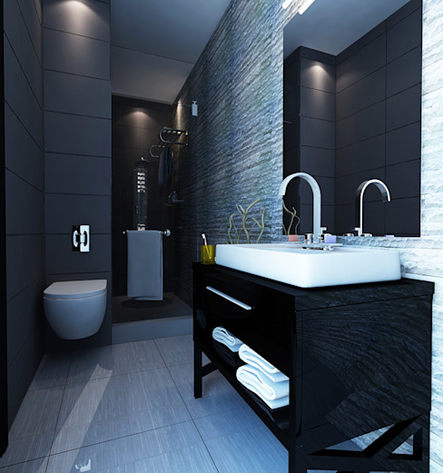 Apartment Aston Ancol Elora Desain Kamar Mandi Modern