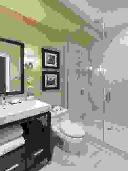 EVEN SIGHTS ARCHITECTS Moderne Badezimmer Fliesen Holznachbildung