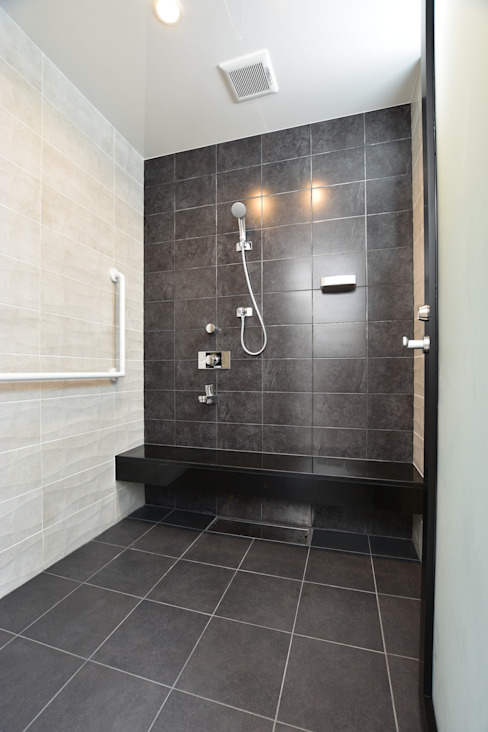 Style Create Modern bathroom Tiles Black