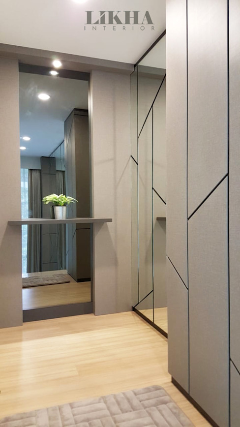 Modern Corridor, Hallway and Staircase by Likha Interior Modern Plywood
