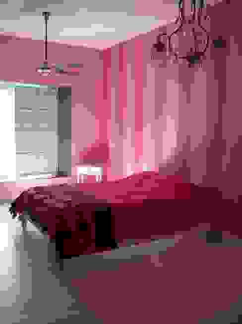 DORMITORIO A RAYAS Dormitorios de estilo rústico de Estudio Dillon Terzaghi Arquitectura - Pilar Rústico Caliza