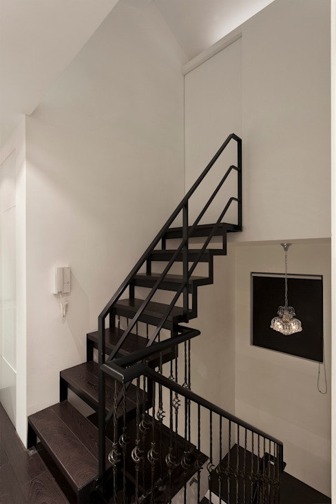 黑白精品‧極致混搭 禾光室內裝修設計 ─ Her Guang Design 樓梯