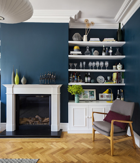 East Dulwich Family Home Modern living room by Imperfect Interiors Modern