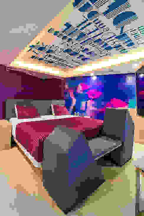 Hotel Bonn - DIN interiorismo : Recámaras de estilo  por DIN Interiorismo , Moderno