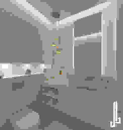 Minimalist design apartment dal design office حمام