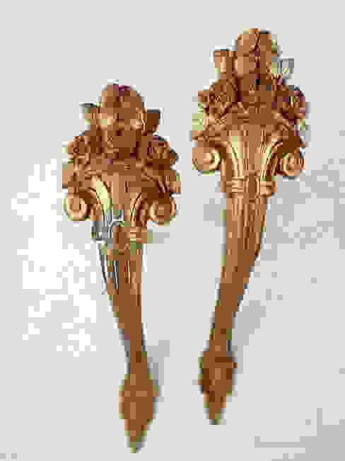 Maisondora Vintage Living Windows & doors Curtain rods & accessories Copper/Bronze/Brass Amber/Gold