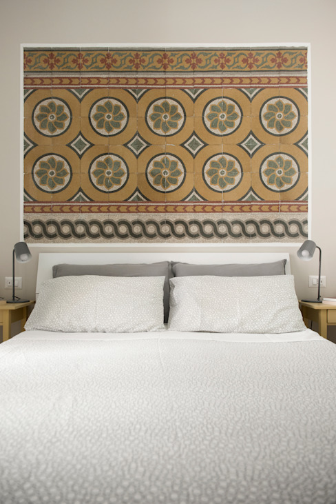 02A Studio Eclectic style bedroom Marble White