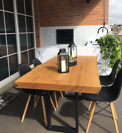 ArboREAL - Mesa de Jantar Rústica por ArboREAL Móveis de Madeira Rústico Madeira maciça Multi colorido