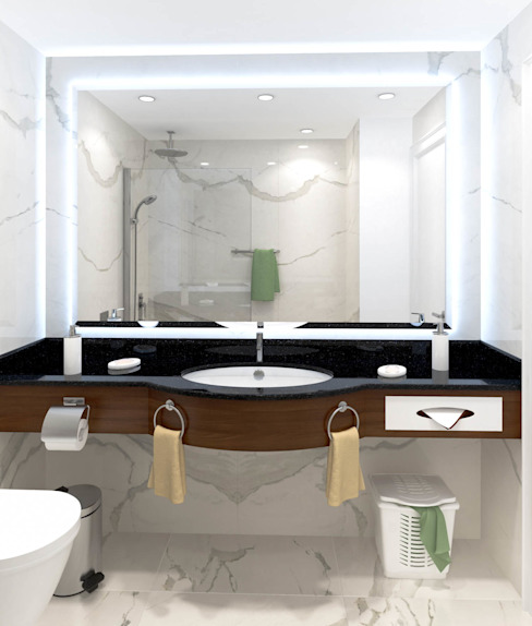 Bathroom de DMR DESIGN AND BUILD SDN. BHD.