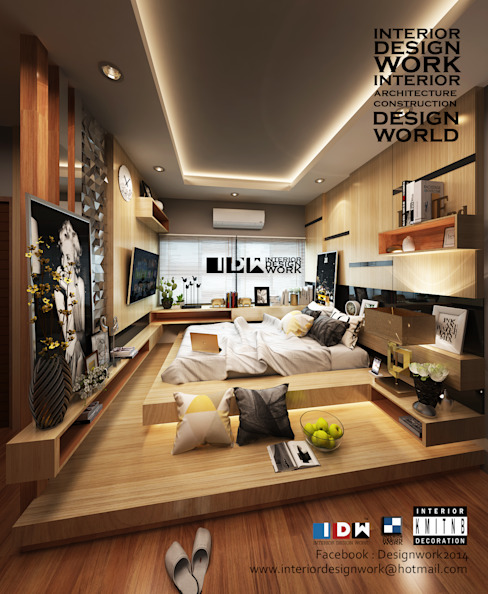 bedroom.: ทันสมัย  โดย walkinterior , โมเดิร์น