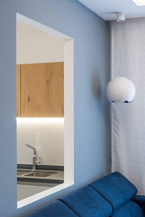 Wohnzimmer von Grippo + Murzi Architetti, Minimalistisch