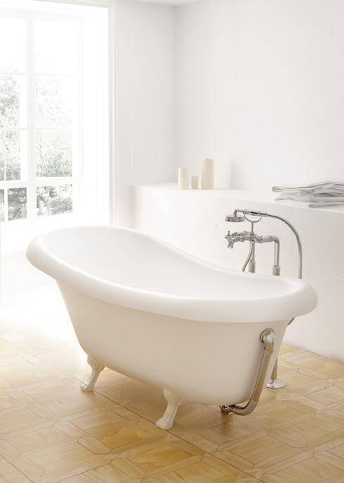 ZICCO GmbH - Waschbecken und Badewannen in Blankenfelde-Mahlow Rustic style bathroom Marble White