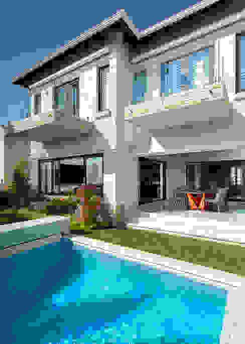 Front Patio and Pool by Deborah Garth Interior Design International (Pty)Ltd Modern Sandstone